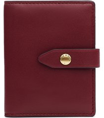 women's rag & bone passenger leather card case - burgundy