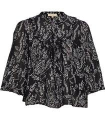 festival blouse blus långärmad svart by ti mo