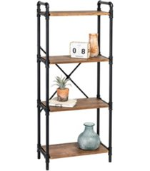 honey can do 4-tier industrial black bookshelf