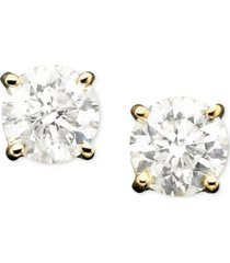 diamond stud earrings in 14k gold (1 ct. t.w.)