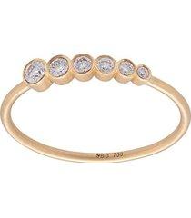 18kt gold lune diamond ring