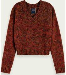 scotch & soda wool-alpaca blend lurex pullover