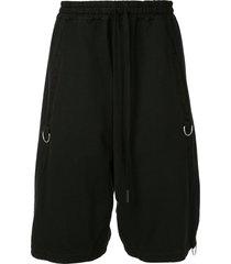 andrea ya'aqov d-ring drop-crotch shorts - black