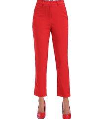 pantalón recto vestir rojo nicopoly