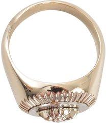 versace metallic fashion jewelry ring