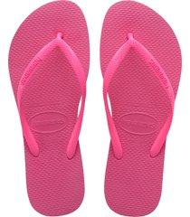 women's havaianas slim flip flop, size 37/38 br - pink