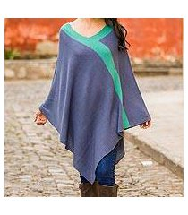 knit poncho, 'twilight' (peru)