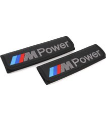 bmw m seat belt covers leather shoulder pads interior accessories with emblem