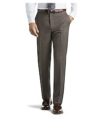 reserve collection tailored fit flat front calvary twill dress pants - big & tall clearance by jos. a. bank