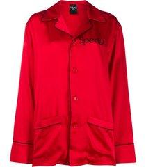 christopher kane pijama special de seda - vermelho