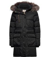 kymmicr jacket parka lange jas jas zwart cream