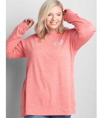 lane bryant women's game day graphic sweatshirt 14/16 red