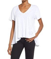women's treasure & bond mix media t-shirt, size x-large - white