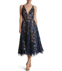 women's dress the population blair embellished fit & flare dress