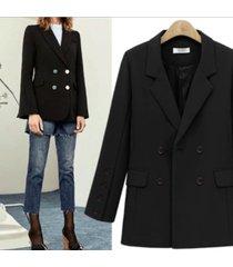 abrigo de lana casual de longitud media suelta hembra