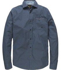 long sleeve shirt poplin print james (de) dark nav