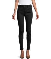 allsaints women's stilt skinny jeans - jet black - size 25 (2)