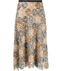 antonio marras sequin-embellished midi skirt - gold