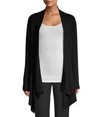 asymmetric open-front cardigan