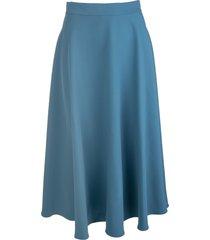 gianluca capannolo turquoise flared midi skirt
