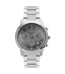 relógio euro feminino prata cronógrafo eujp25aa3c
