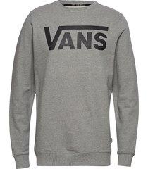 vans classic crew ii sweat-shirt tröja grå vans
