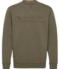 est1973 crew sweats sweat-shirt tröja grön timberland