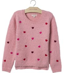 blusa le lis petit love rosa feminina (quartzo, 9)