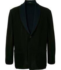 issey miyake men unstructured blazer - blue