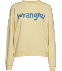 80´s retro sweat sweat-shirt tröja gul wrangler