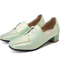 scarpe brogue tacco quadrato tacco alto da donna