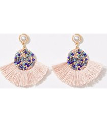 loft embellished fabric drop earrings