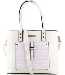 bolso tipo shopping blanco de mujer cosmos