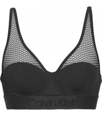 bralette light lined negro calvin klein