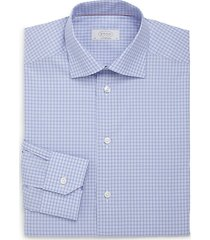 contemporary-fit checkered cotton dress shirt