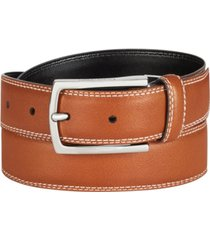 calvin klein men's feather-edge leather belt