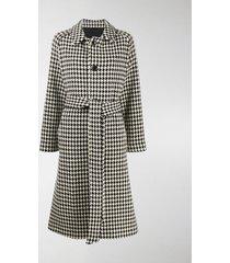 ami paris belted five button coat