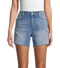 joe's jeans women's distressed denim shorts - barrie - size 29 (6-8)