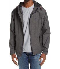 polo ralph lauren men's hooded zip jacket, size large in windsor heather at nordstrom