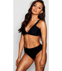 piza mix & match fuller bust bikini top, black