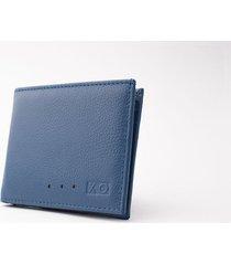 billetera sencilla reverse azul/naranja