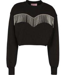 chiara ferragni crystal fringe sweatshirt