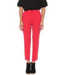 pantalón rojo enoss dimitry crepe