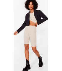 womens you've knot a nerve top and biker shorts set - stone