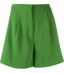kenzo pleated a-line shorts - green