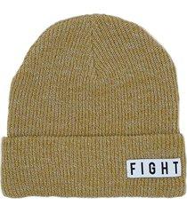 gorro  beige fight for your right capsula