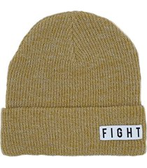 gorro  beige fight for your right capsula