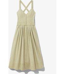 proenza schouler white label washed cotton dress khaki/brown 8