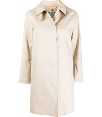 mackintosh dunoon concealed fastening trench coat - neutrals