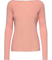 true soft boatneck sweater stickad tröja rosa gap